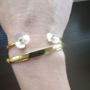 Kate Spade disco pansy gold bangles